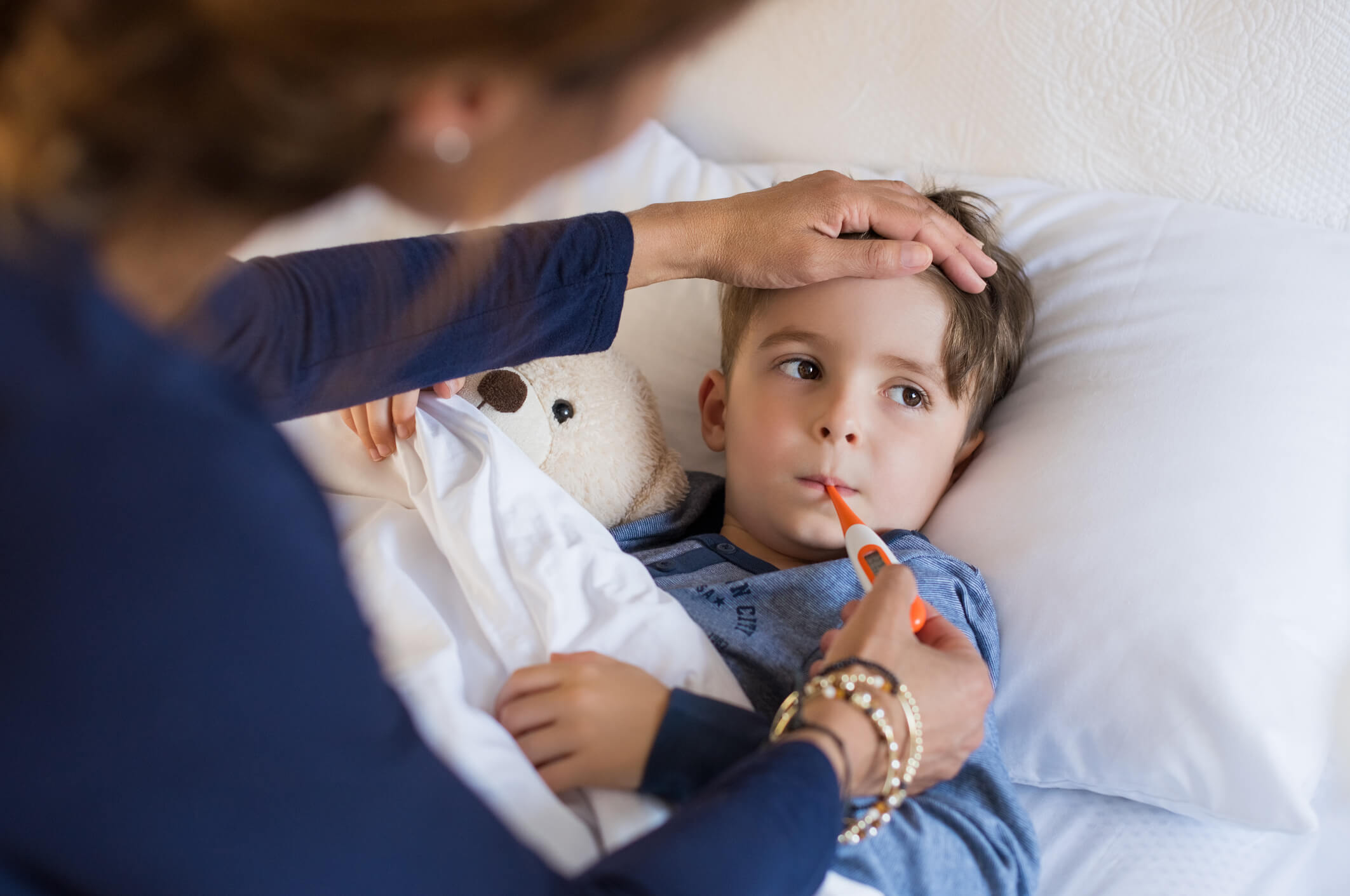 rhinopharyngite fièvre