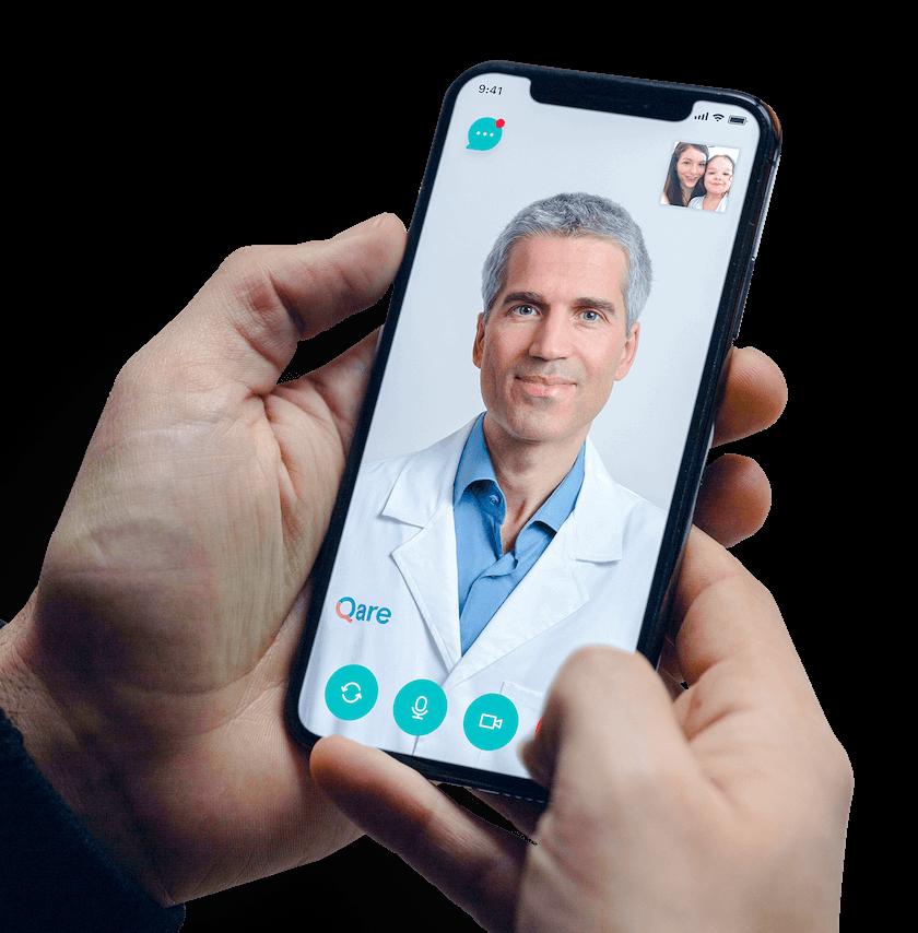Teleconsultation medecin Qare sur mobile